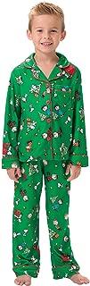 Big Boys Christmas Pajamas - Charlie Brown Christmas, Green