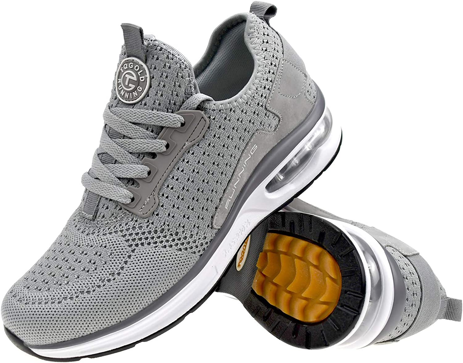 tqgold Mens Womens Trainers Sports Fitness Running Shoes Gym Athletic Sneakers 1869 Wt NS1TLo