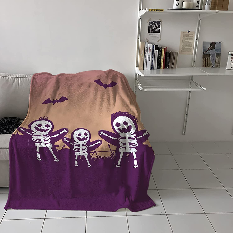 Regular dealer COLORSUM Fleece Throw Blanket Soft Ske Bat Halloween Lightweight Minneapolis Mall