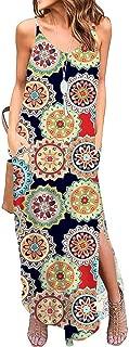 Sexy Dresses for Women,Women's Sexy V-Neckline Long Dress Bohemian Pocket Sleeveless Strap Dress