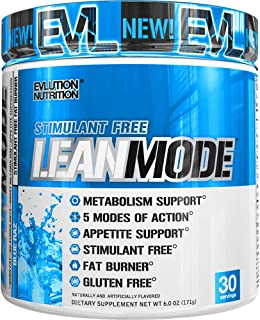 Evlution Nutrition Lean Mode Stimulant-Free Weight Loss Supplement with Garcinia Cambogia, CLA and Green Tea Leaf Extract, 30 Servings (Blue Raz)