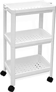 キッチンラックワゴン 3段 キャスター付き キッチンワゴン 大容量 隙間収納 強い耐久性 調味料ラック洗面所 浴室 トイレ 収納 75×36.5×23cm