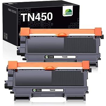 JARBO Compatible Toner Cartridge Replacement for Brother TN450 TN-450 TN420 TN-420 Toner Cartridge (2 Black, High Yield), for Brother HL-2270DW HL-2280DW HL-2230 HL-2240 HL-2240D MFC-7860DW Printer