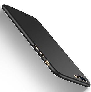 【Humixx】 iPhone 8 Plus ケース iPhone7plus ケース [ 薄型 軽量 ] [ ワイヤレス充電 対応 ] [ レンズ保護 耐衝撃 指紋防止 ] [ ガラスフィルム 付き ] (iPhone 7 Plus, iPhone 8 Plus, ブラック)[Skin Series]