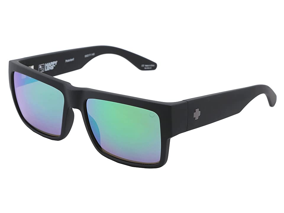 Spy Optic Cyrus (Matte Black Happy Bronze Polar w/ Green Spectra) Sport Sunglasses