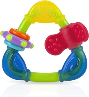 Nuby Spin 'N' Teethe Multi Surfaces Triangle Shaped Teether 6m+ - 101664