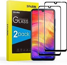 SPARIN [3D Borde Redondo] Protector Pantalla Redmi Note 7/7 Pro, Cristal Templado Redmi Note 7/7 Pro, [Cristal + Resina] Protector de Pantalla con [9H Dureza] [Alta Definicion] 2-Pack