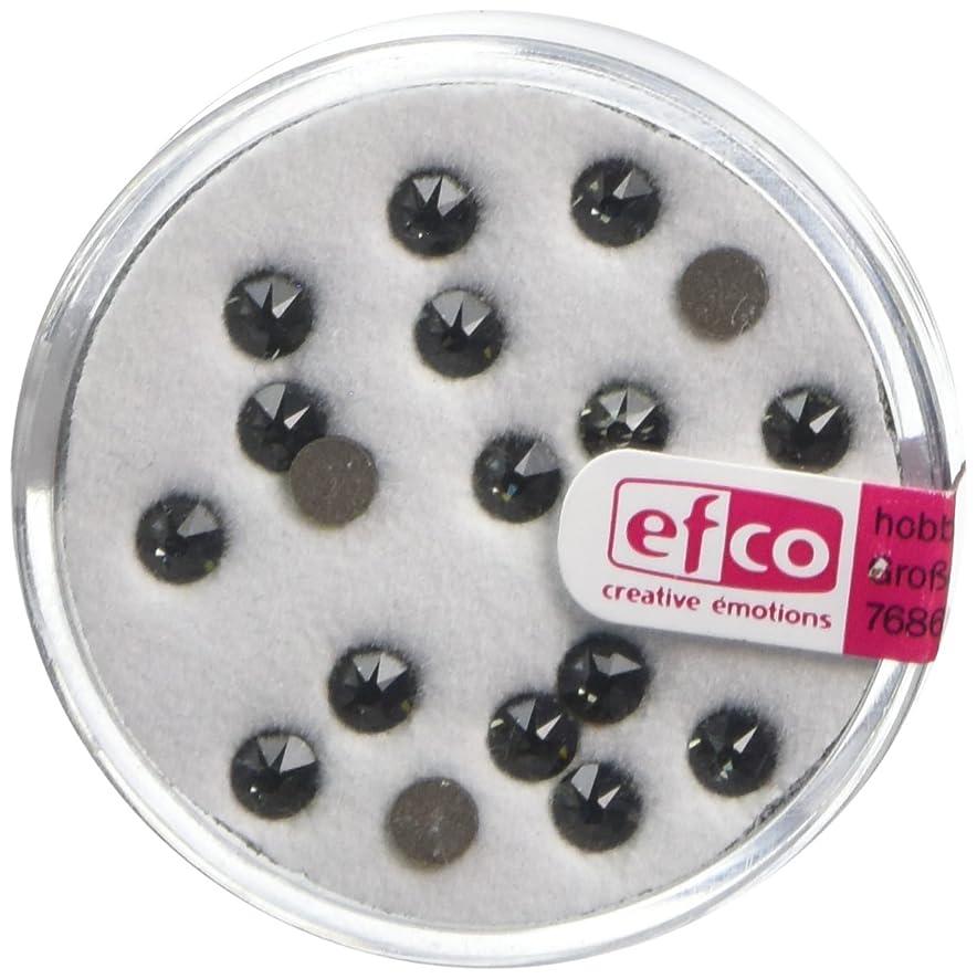 Efco Swarovski Strass Flat-Stones ? 4 mm 20 Pcs. Black Diamond