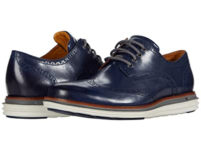 Cole Haan Original Grand Wing Ox Luxury (Marine Blue Leather/Quiet Shade/Glacier Gray) Men