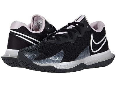 Nike NikeCourt Air Zoom Vapor Cage 4 (Black/White/Pink Foam/Dark Smoke Grey) Women