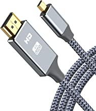 4K Micro HDMI to HDMI Cable Adapter, Oldboytech Micro HDMI Cable Nylon Braid (Male to Male) 4K@60HZ/3D Grey Compatible wit...