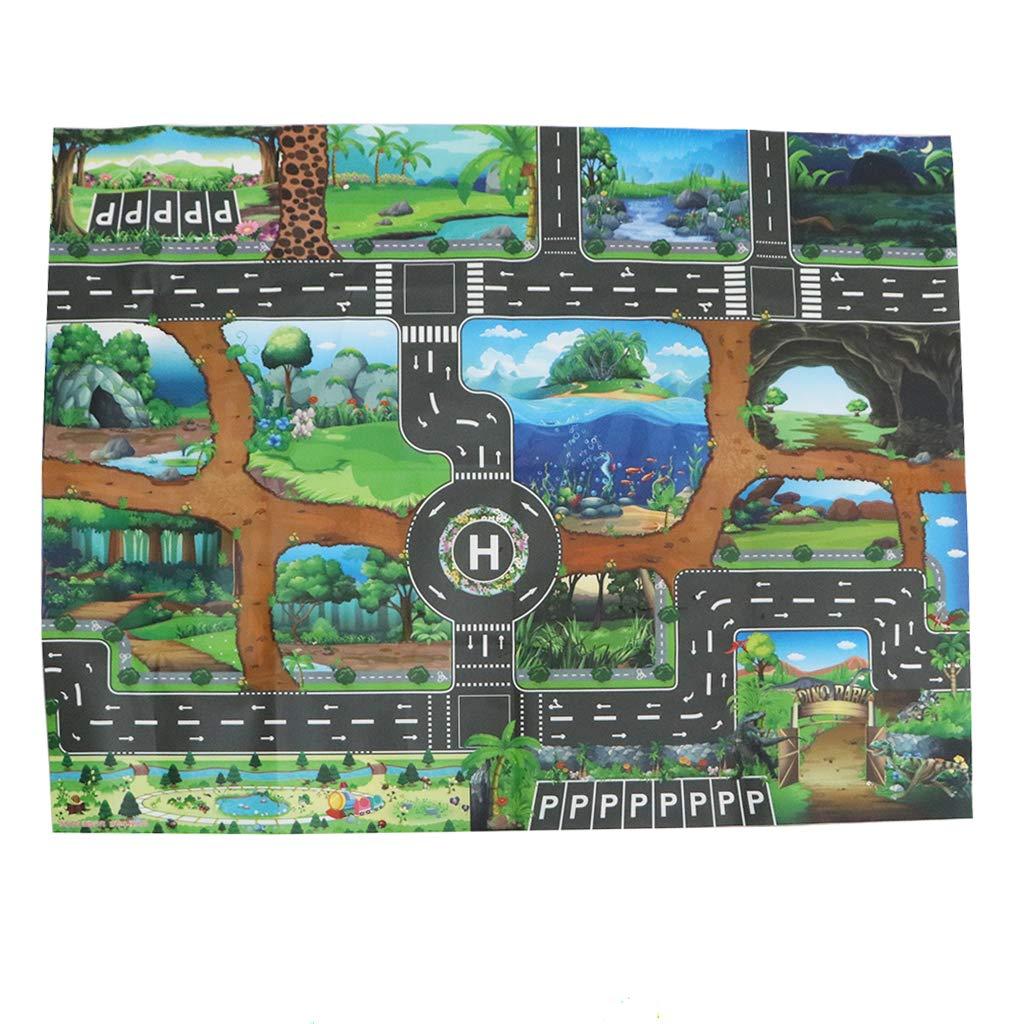 YIJU Dinosaur World Max 57% OFF Traffic Road Play Ranking TOP10 Game Cra Mat Toy Child Car