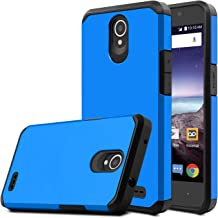 Venoro Compatible with ZTE Prestige 2 Case, for ZTE N9136 Case, Shockproof Slim Anti Scratch Hybrid Dual Layer Armor Defender Protective Phone Case Cover Compatible with ZTE ZFive 2 Z837VL (Blue)