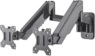 "Universal Gas Spring Dual Monitor Wall Mount Two Gas-Spring Jointed Arms, Supports Two 17"" to 32"" TV Or Monitors up to 8 K..."