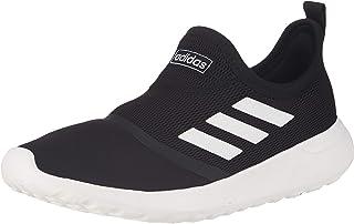 Adidas Lite Racer Side-Stripe Pull-Tab Slip-On Running Sneakers for Men - Core Black and Ftwr White