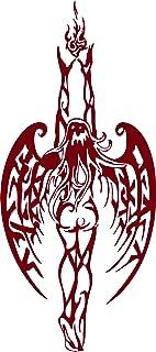 Angel Fairy Fantasy Girl Tribal Fire Flame Wings Car Truck Window Vinyl Decal Sticker