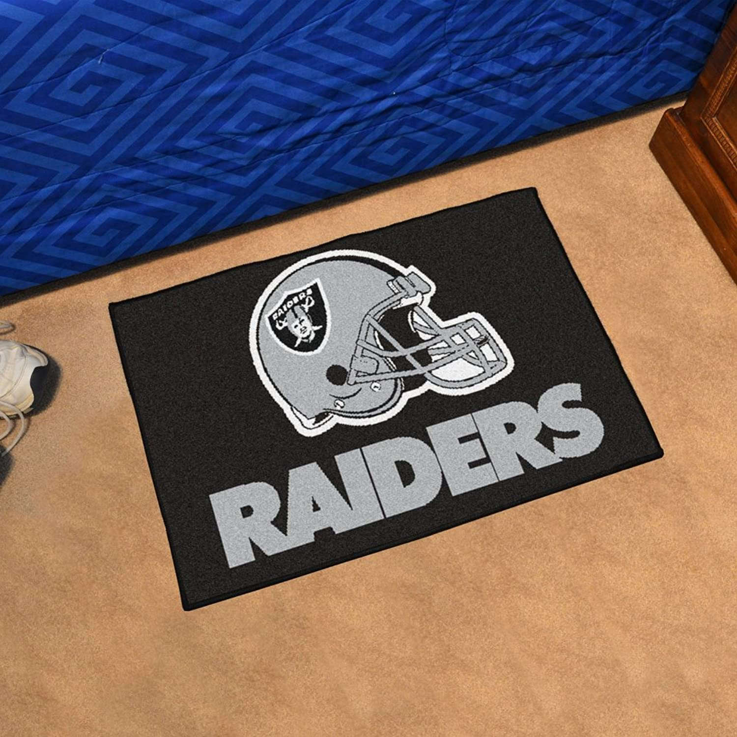 NFL Oakland Raiders Football Starter Mat