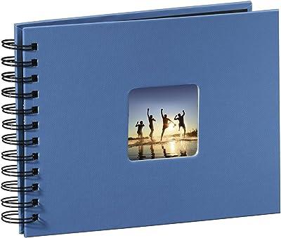 Hama Fine Art - Álbum de Fotos, 50 páginas Negras (25 Hojas), álbum con Espiral, 24 x 17 cm, con Compartimento para Insertar Foto, Azur Azul: Amazon.es: Hogar