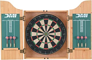 DMI Sports Deluxe Dartboard Cabinet Set - Multiple Finishes Available (Renewed)