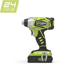 Greenworks 3801307 Destornillador de Impacto 1/4 Inalámbrico, 24 V, (sin batería ni cargador), Verde