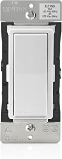 Leviton DZ15S-1BZ Decora Smart Switch with Z-Wave Technology, White/Light Almond, Repeater/Range Extender