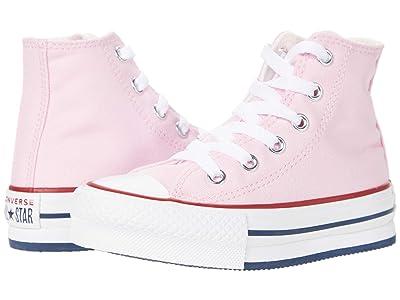 Converse Kids Chuck Taylor(r) All Star(r) Eva Lift Hi (Little Kid/Big Kid) (Pink Glaze/White/Pink Glaze) Kid