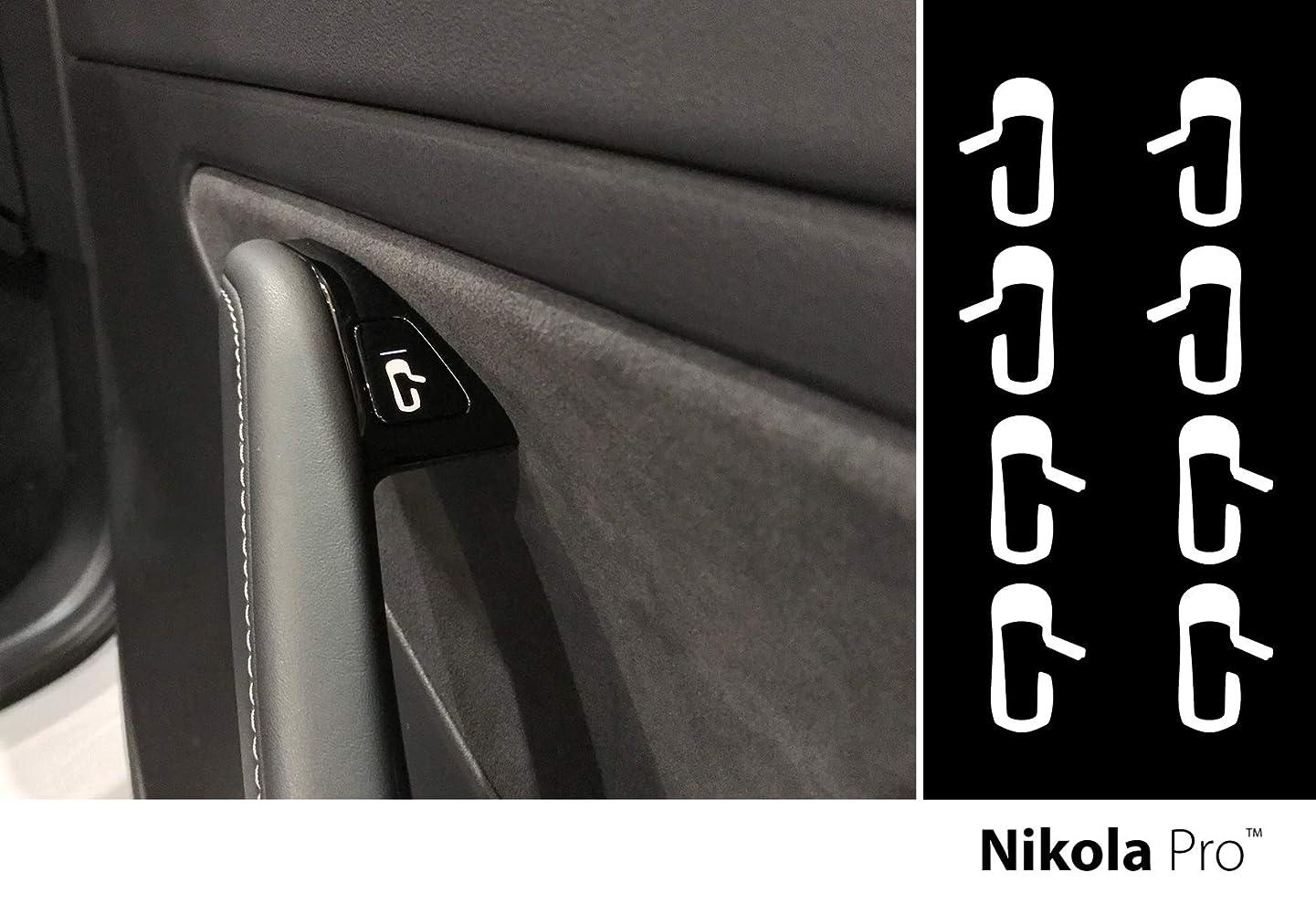 Nikola Pro Tesla Model 3 Door Exit Decal Set (White) d200168374609116