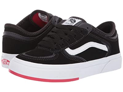 Vans Kids Rowley Classic (Little Kid/Big Kid) ((66/99/19) Black/Red) Boy