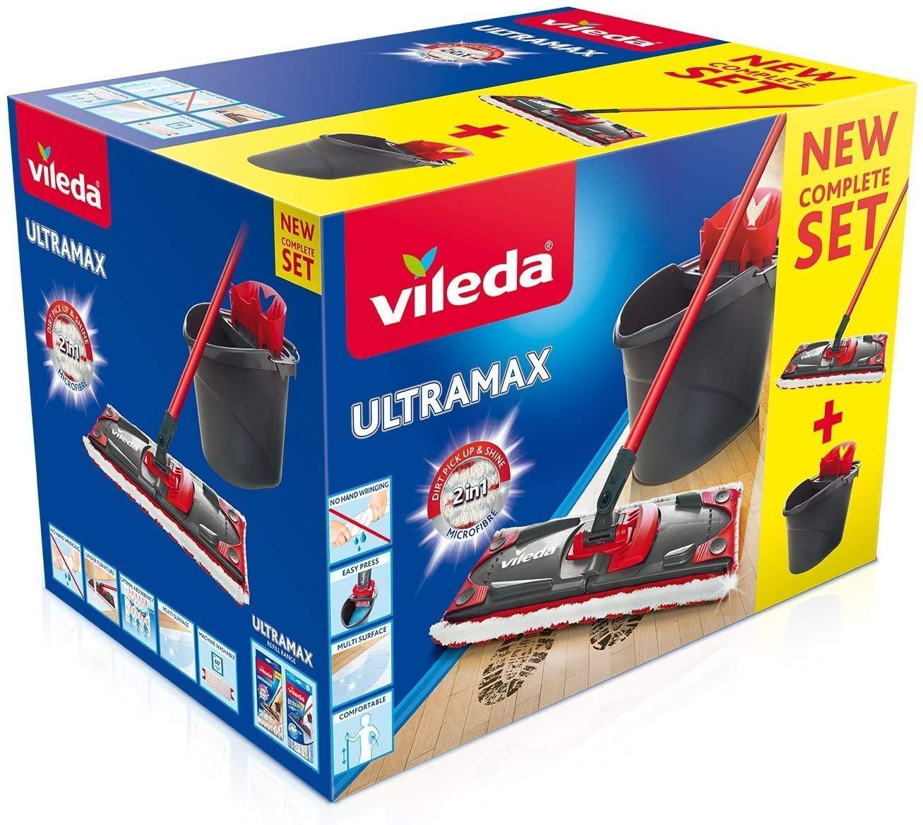 Vileda Ultramax - Set de limpieza, mopa de microfibras 2en1 para ...