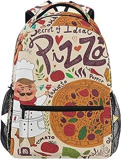 DEZIRO Cartoon Chef Y Pizza School Pack tejer Mochilas