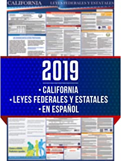 2019 Spanish California State and Federal Labor Laws Poster - OSHA Workplace Compliant 24