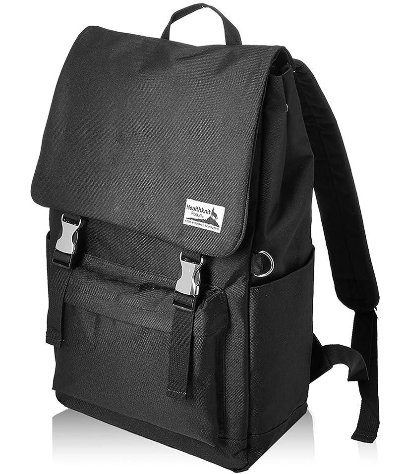 壁紙クラシカル排出Healthknit (ヘルスニット) フラップデイパック 通学 旅行 通勤 バックパック バッグ 大容量 カジュアル