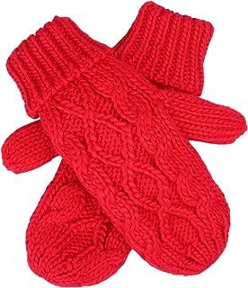 HDE Women's Winter Gloves Crochet Twist Cable Knit Hand Warmer Mittens
