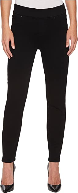 Sienna Ankle Pull-On Leggings in Premium Super Stretch Denim in Black Rinse