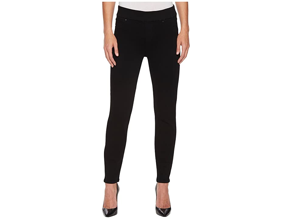 Liverpool Sienna Ankle Pull-On Leggings in Premium Super Stretch Denim in Black Rinse (Black Rinse) Women