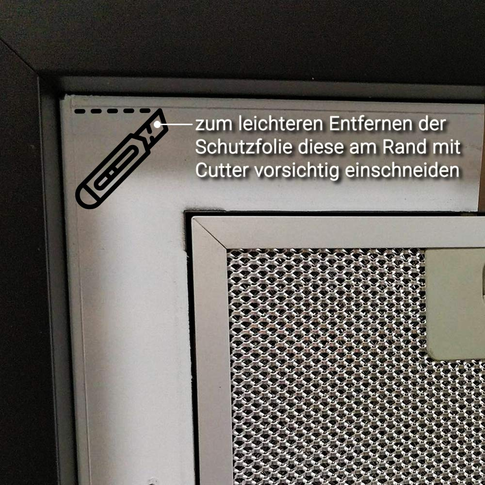 Campana extractora con control remoto iluminado blanco KKT KOLBE: Amazon.es: Grandes electrodomésticos