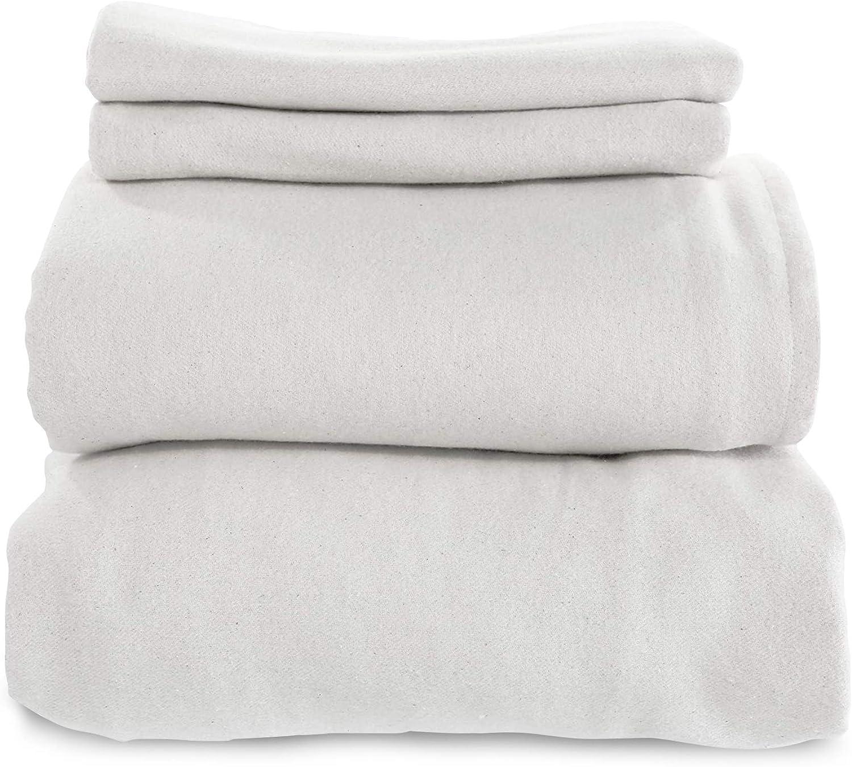Whisper Organics Max 50% OFF Organic Bed Sheets 4-Pc Set Super sale Flannel Sheet -