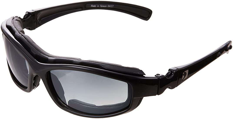 カード書く恩恵BOBSTER(ボブスター) ロードホッグII ブラック サングラス ゴーグル兼用 付属レンズ4色 オートバイ UV100%カット BRH2001 遮光 全天候型 保証 (日本正規品)