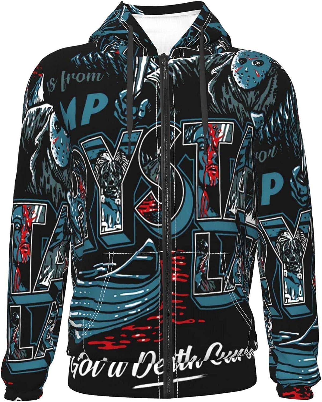 supreme Camp Crystal Lake New life Teenager Zipper Jacket Warm Hoodie Coat Pullov