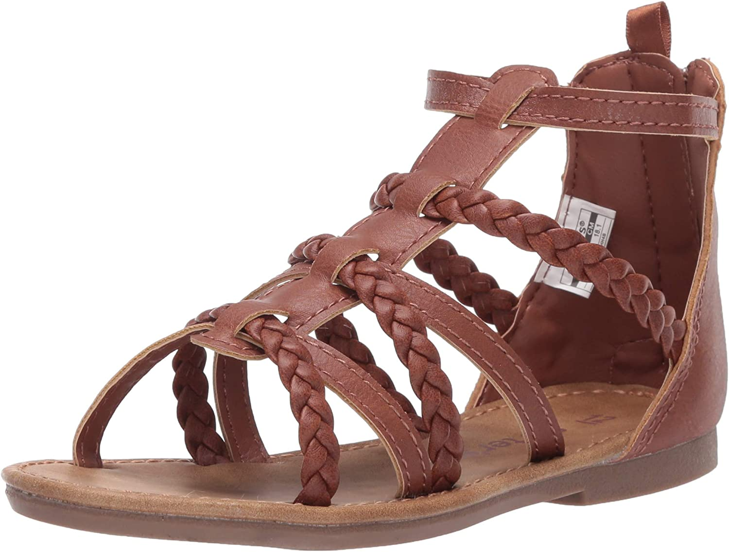 Carter's Unisex-Child Eliana Gladiator-Style OFFicial low-pricing mail order Zipper Sandal