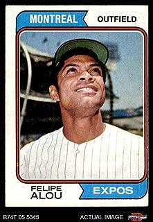 1974 Topps # 485 Felipe Alou Montreal Expos (Baseball Card) Dean's Cards 4 - VG/EX Expos
