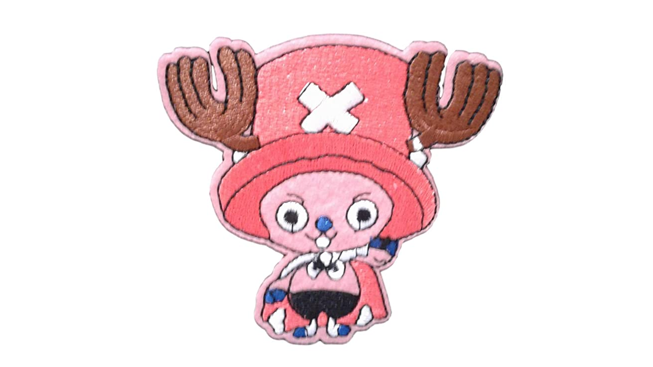 CHOPPER Iron On Patch Fabric Applique Motif One Piece Anime Manga Decal 3.8 x 3.5 inches (9.5 x 8.8 cm)