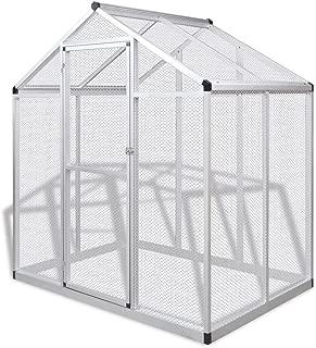 vidaXL Outdoor Aviary Aluminium 178x122x194cm Garden Bird Cage House Habitat