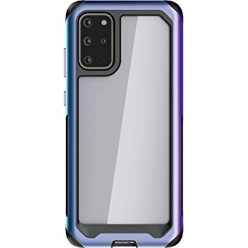 Ghostek Atomic Slim Galaxy S20 Plus Clear Case with Super Space Metal Bumper Design Military Grade Armor Heavy Duty Protection Wireless Charging Compatible 2020 Galaxy S20+ 5G (6.7 Inch) - (Prismatic)
