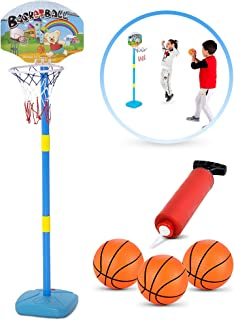 BRITENWAY Kids Basketball Hoop Play Set – Adjustable Height 25-52 Inches – Ideal for Toddlers Kids & Adults, Ages 3 Years and Up –Indoor - Outdoor Play, Sturdy Durable & Safe