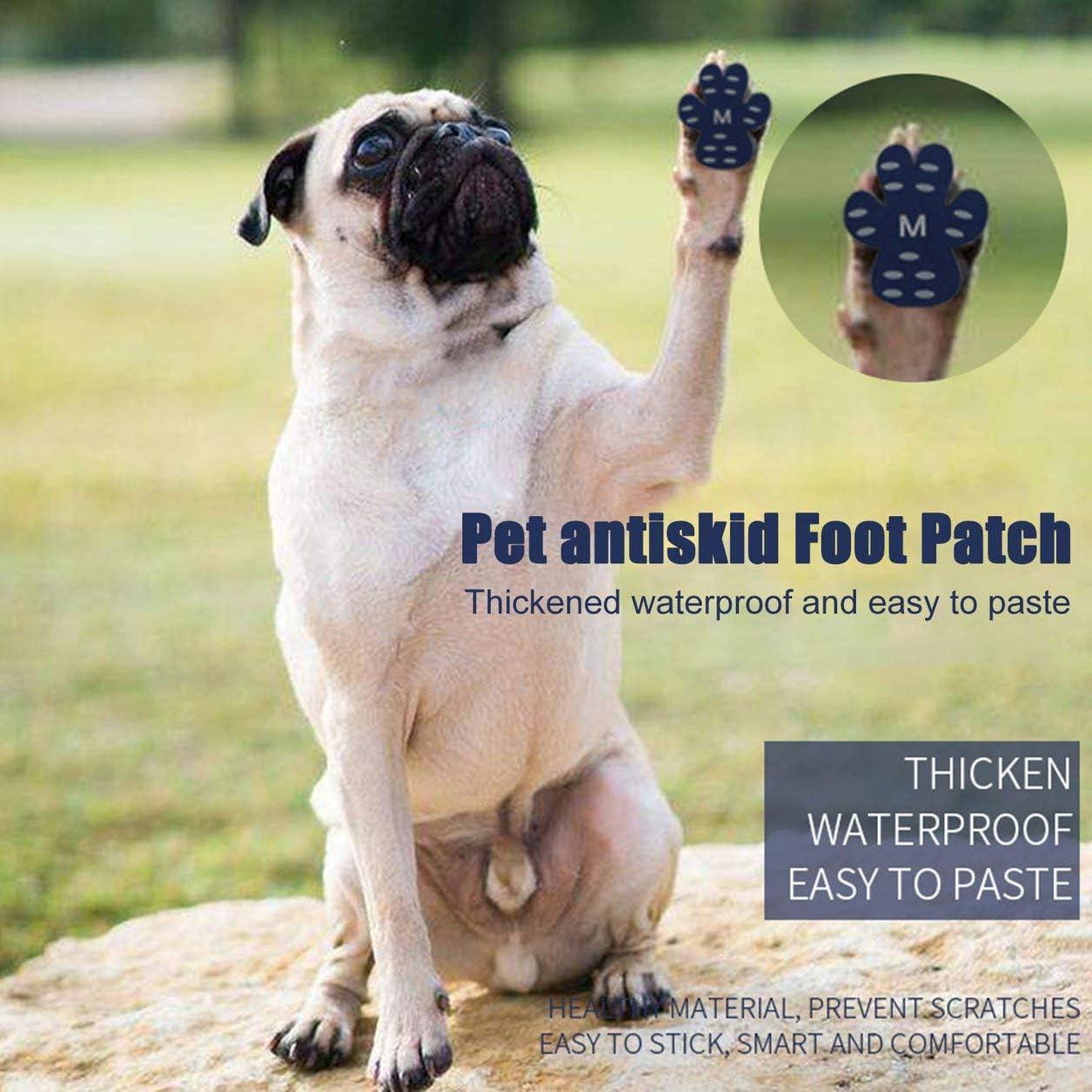 YXDS Parche de pie de Perro C/ómodo Protector de Pata de Perro Andsoft Suministros para Mascotas Antiara/ñazos Zapatos de Perro Gruesos Impermeables Parche de pie