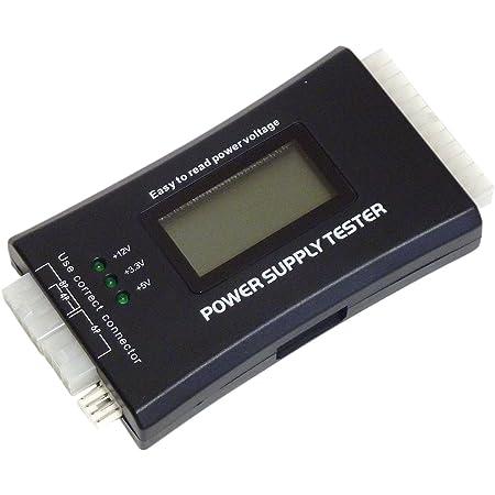MacLab. PC 電源 テスター パソコン 電源用 電圧 チェッカー PCI-EXPRESS S-ATA ATX EPS 対応 簡易使用 説明書 付き