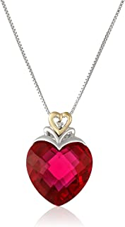 ruby and diamond necklace 14k