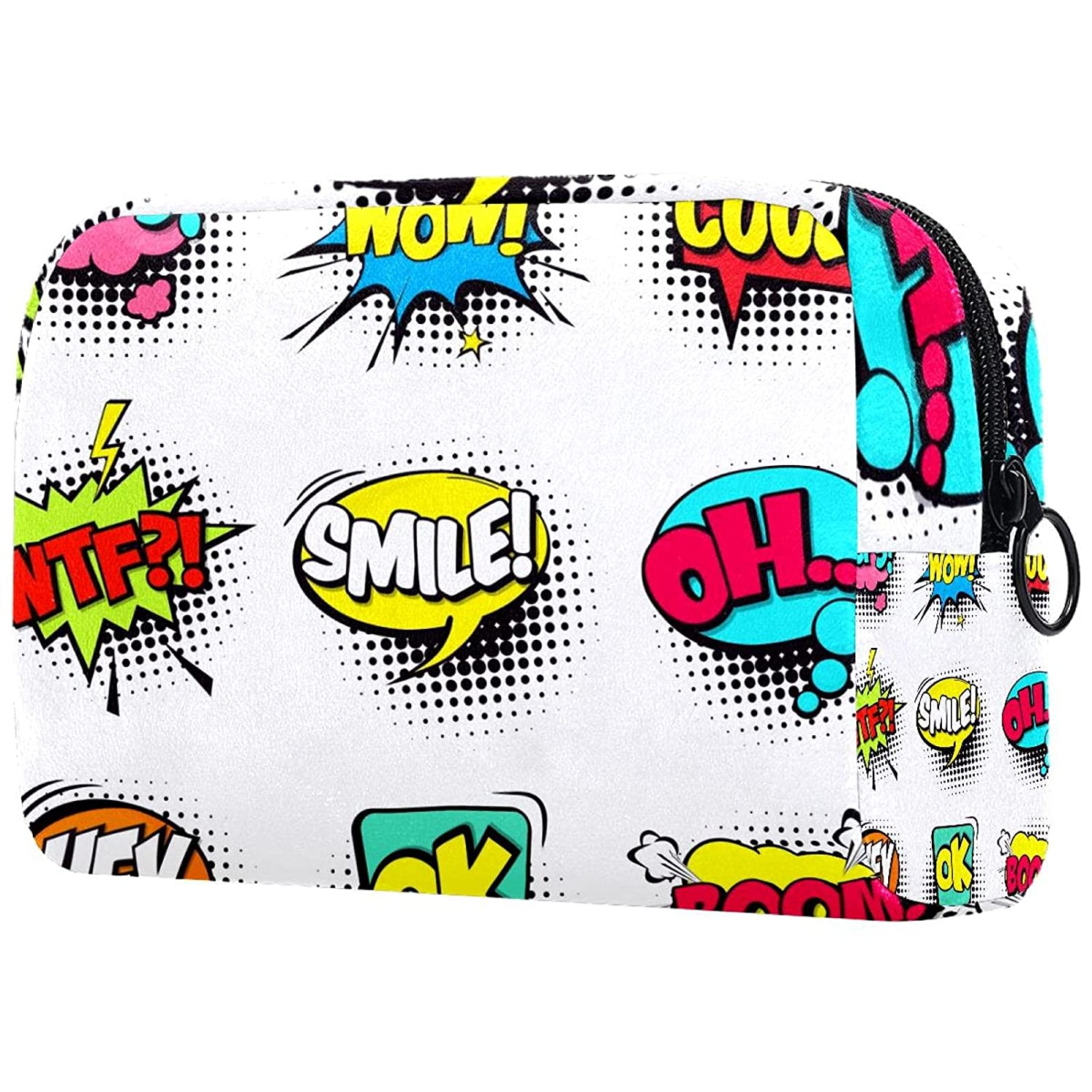 Challenge the lowest price of Japan Comic Speech Bubbles Makeup Virginia Beach Mall Bags Tote Portable Bag Cosmetics Tra