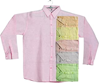 Khadi-Men's Full Sleeve Khadi Cotton Shirt, Regular Fit, Plain Shirt